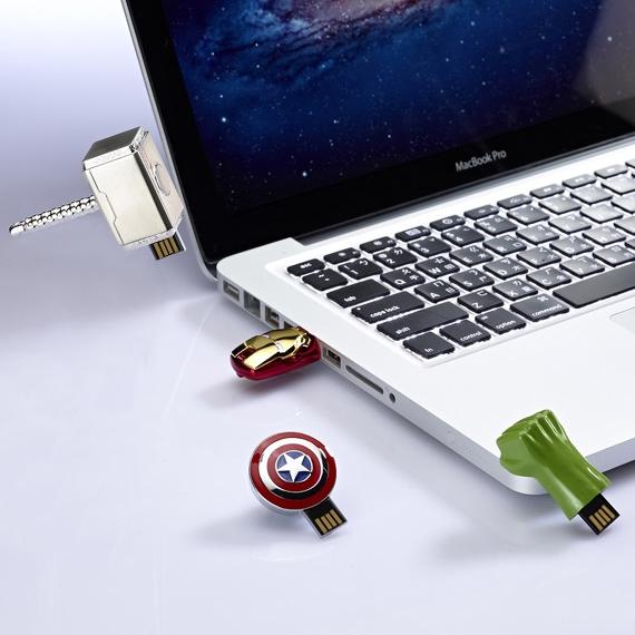 Captain America Iron Man Hulk Thor Memoria USB 2.0 Pendrive 64GB Flash Drive Memory Stick Key Card Pendrive 128GB 512GB 1TB Gift(China (Mainland))
