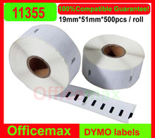 2014 New Real Adhesive Sticker Accept Shipping Labels 10 X Rolls 11355 19x51mm Free Shipping