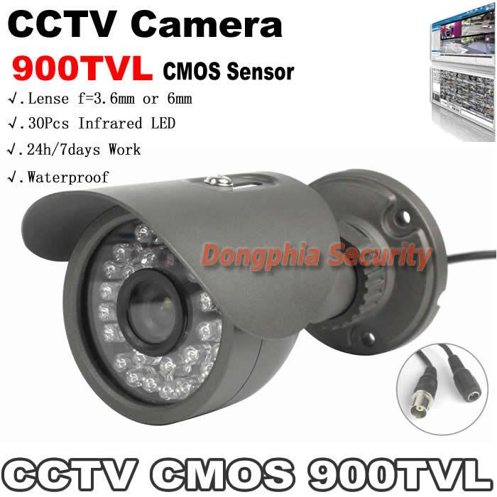1/4'' CMOS Sensor 900TVL CCTV Cameras Waterproof Outdoor With 30Pcs IR Leds Color Image Night Vision IR Home Camera Surveillance
