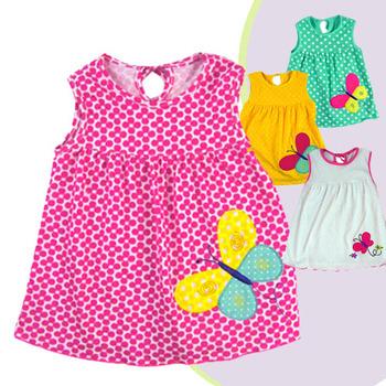 baby girls dress baby summer dress 4pcs/lot wholesale baby clothing brand atst0001