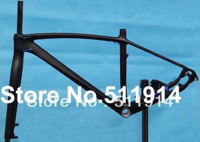 """FLX-FR-216 full carbon matt matte mountain bike bicycle MTB 29ER frame fork headset 17"""", 19"""""""