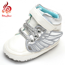 2016 fashion study walk children shoes autumn winter wing kobron design casual flat little girls shoes outdoor size 1-3