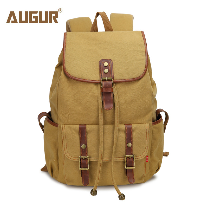 AUGUR Backpack Men Cover Canvas Backpacks for Teenage Girls European and American Style School bags for Teenagers(China (Mainland))