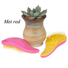 Hair Brush Fashion Style Portable Tools Handle Tangle hair extension Comb Multi Color Optional