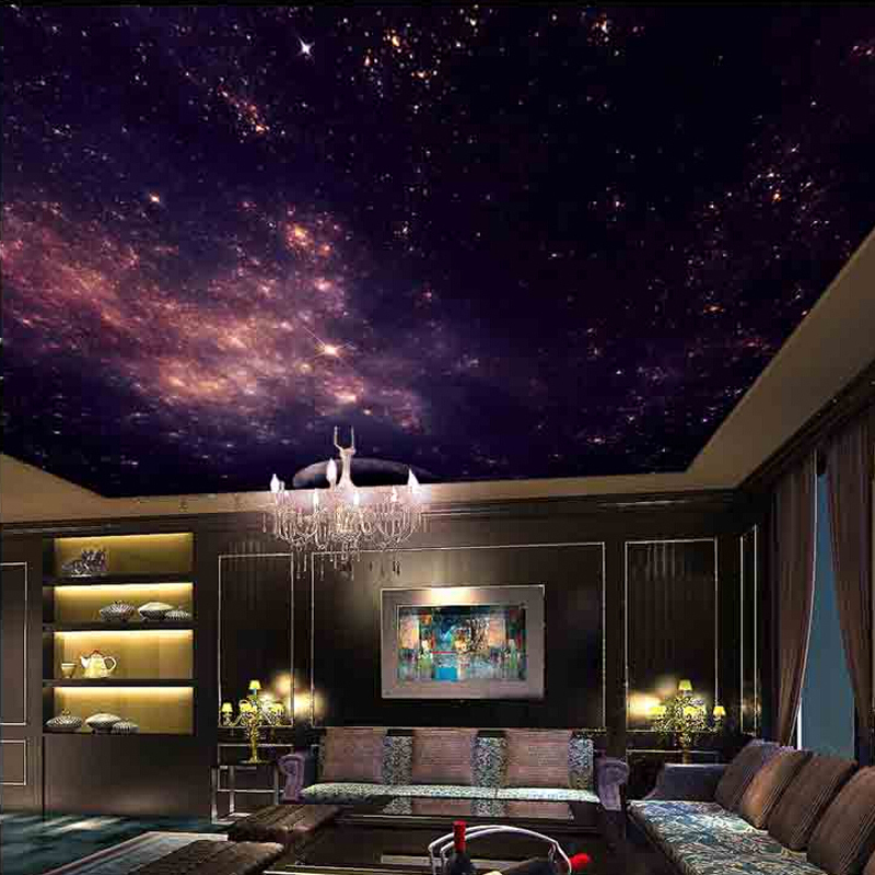 Mural wallpaper picture more detailed picture about 3d - Night sky painting on ceiling ...