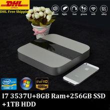 Buy Intel Box Super Fast Mini PC Game PC CPU Core i7 3537U Max 3.1GHz 8GB Ram 256GB SSD 1TB HDD 300M Wifi Media Center HDMI 1080P for $474.79 in AliExpress store