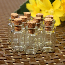 1 set/10 pcs Cork Stopper Glass Bottles Vials Jars Container Size24x12mm Free Shipping ZH210(China (Mainland))