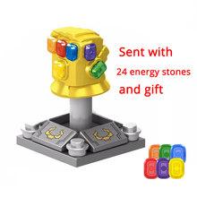Legoinglys Thanos Energy Stones Gloves Building Blocks Avengers 3 New Infinity War Iron Man Block Marvel Figures Kids Toys Gift(China)