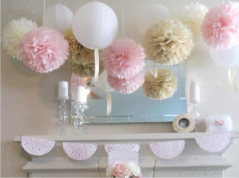 Pom Pom 1pcs 14 inch 35cm Tissue Paper Pom Poms Artificial Flower Balls Wedding Decoration Paper Balls Party Deco(China (Mainland))