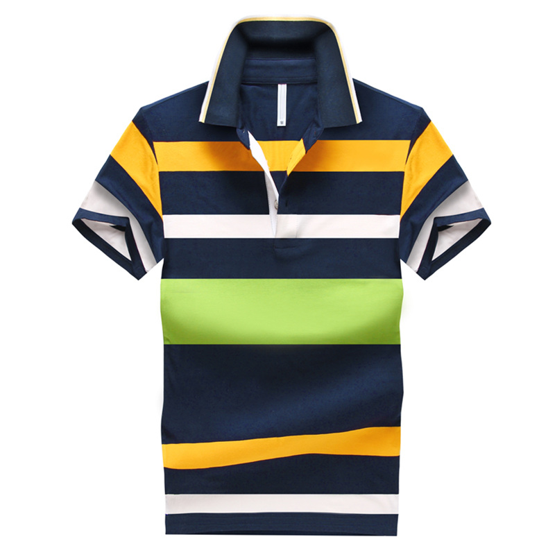 Men's cotton short-sleeved striped Polos 2016 New summer male slim Business Casual polo shirts Breathable mesh(China (Mainland))