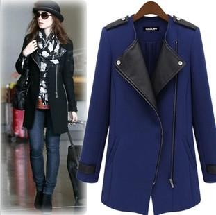Женское пальто в повседневном стиле из новой модной коллекции зима 2014. Пальто на ...
