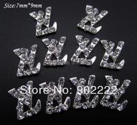 Glitter clear rhinestones DIY nail jewelry 3d metal nail art brand name accessories 10pcs supplies AM13