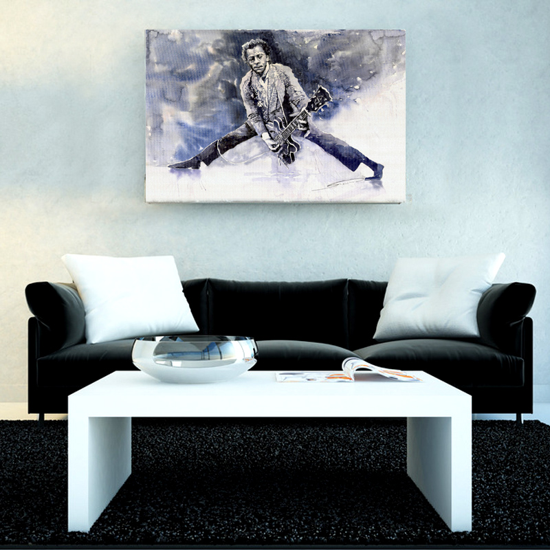 1pcs Cool man Playing Guitar Wall Painting Pop Modern Music Art Canvas Painting Home Decors Abstract Pictures Decoration Bedroom(China (Mainland))