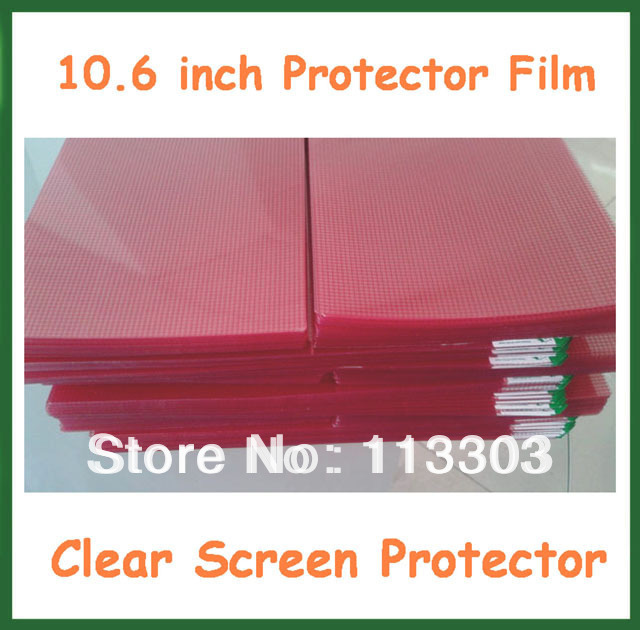 10pcs Universal 10.6 inch Clear LCD Screen Protector with Grid Protective Film for Tablet PC Laptop Notebook No Retail Package(China (Mainland))