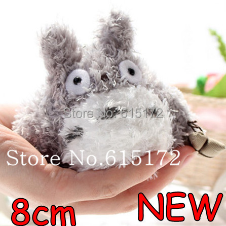 8cm Kawaii Cute Small Japanese Style My Neighbor Totoro Plush Soft Toy Novelty Birthday Gift Idea For Children Girl Girlfriend(China (Mainland))