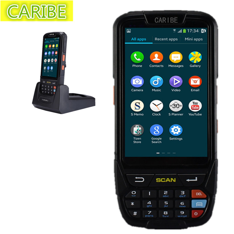 Caribe PL-40LAb048 Hot sell rugged portable mobile wireless android handheld 1d barcode scanner with best price(China (Mainland))