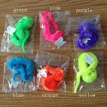 6 Colors Plush Magic Twisty Worm Kids Trick Toy Caterpillar Toys Kids Children magic games Toys(China (Mainland))
