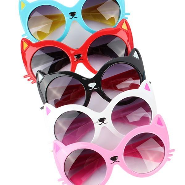 Мультфильм Животных детские Солнцезащитные Очки Девушки Парни Кошка Anti UV Очки Очки
