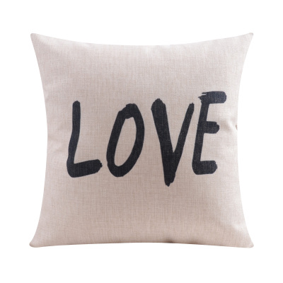 Cotton linen modern style LOVE and simple Cushion cover with customized size