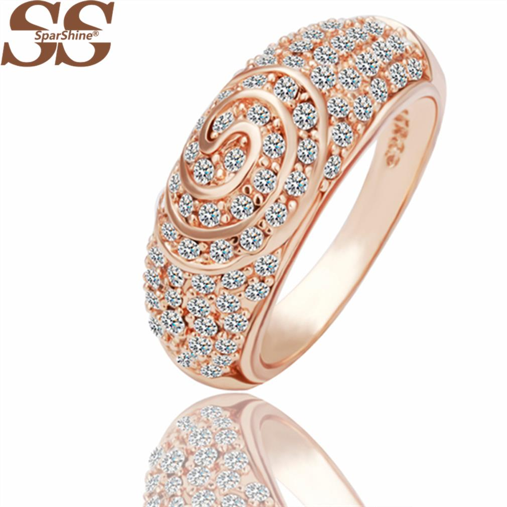 SparShine 18K Rose Gold Fine Jewelry Ring Sapphire Ruby jewelry Rose Gold Turquoise Ring 18K Gold Ring Angel Silver Ring(China (Mainland))
