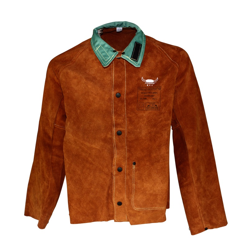 Leather Welder Apron Leather Welding Clothing Cow Split Leather Welding Jackets(China (Mainland))