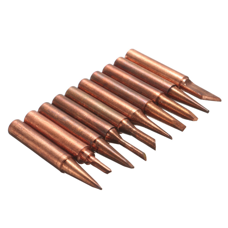 New Arrival 10pcs 900M-T Soldering Tip Pure Copper Electric Iron Head Series Solder Tool Hot Sale(China (Mainland))