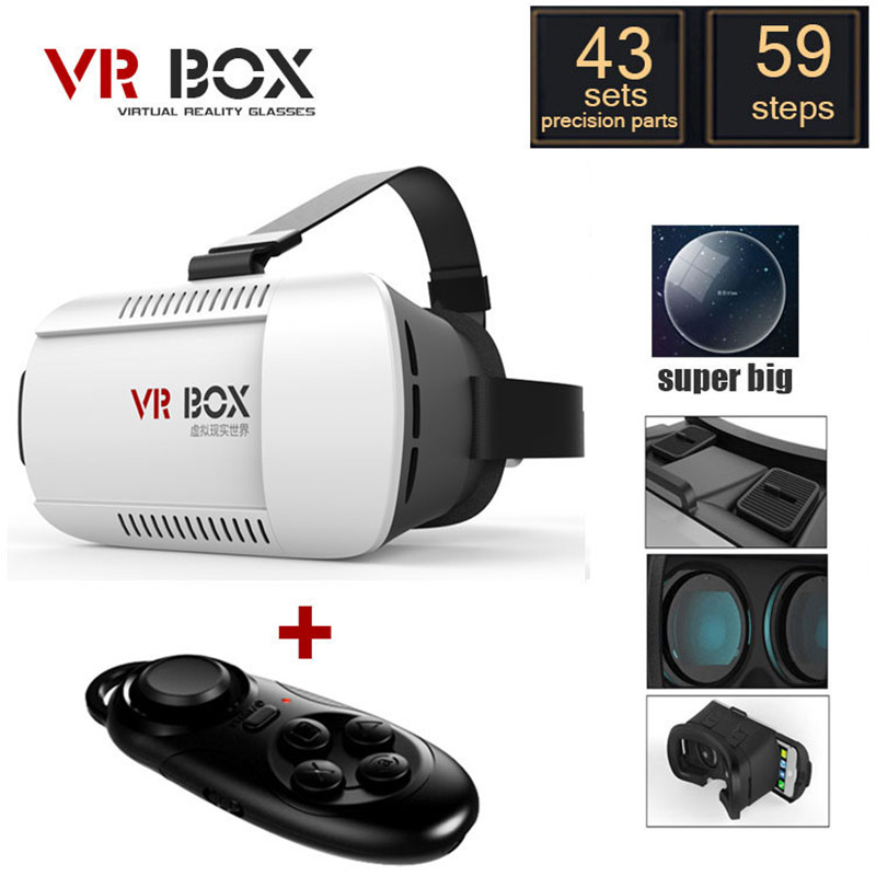 2016 VR BOX Version Google Cardboard Virtual Reality 3D Video Glasses Bluetooth Wireless Mouse/Remote Control Gamepad(China (Mainland))