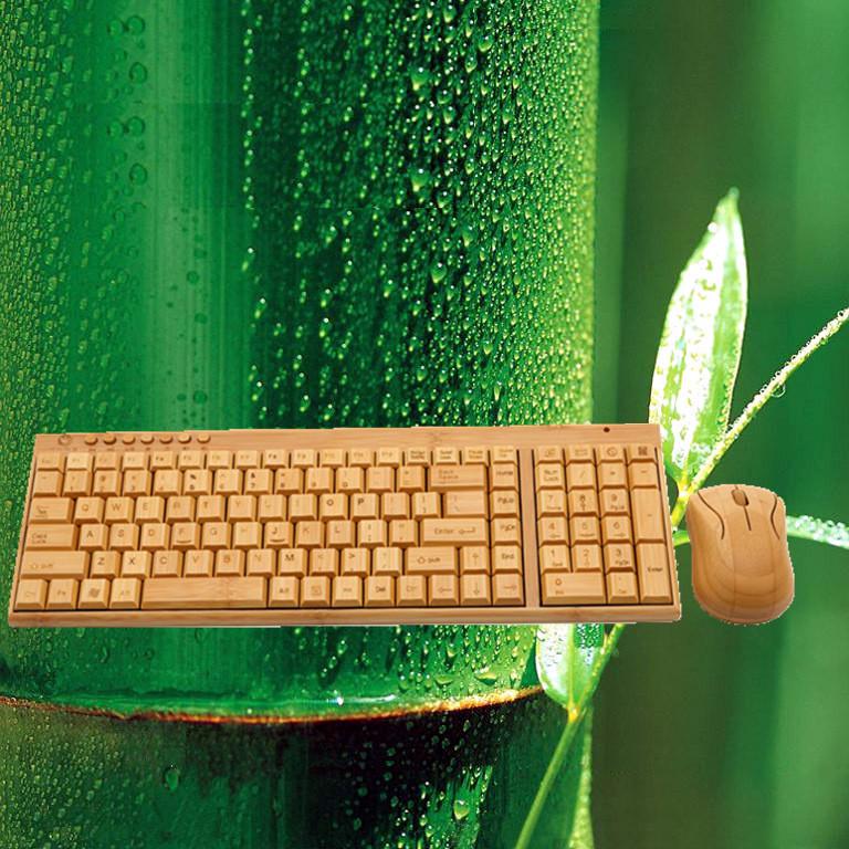 Bamboo Style Keyboard and Mouse Combo Wireless Bluetooth Keyboard and Mouse of 100% Bamboo Laptop and Desktop Mouse&Keyboard Set(China (Mainland))