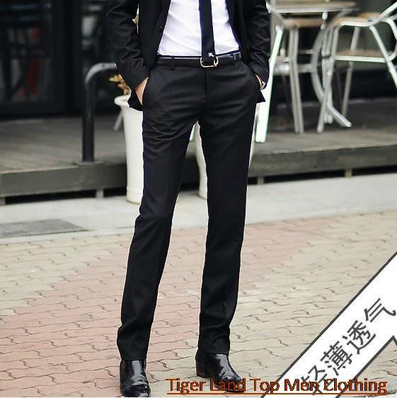 Skinny Black Dress Pants Men