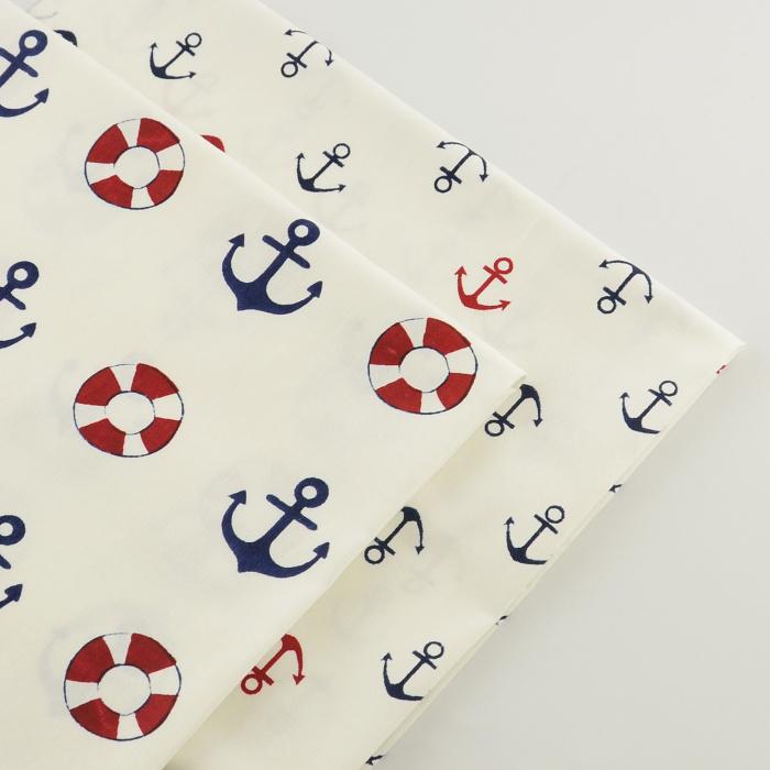 2 peças branco âncora 40 cm x 50 cm algodão acolchoado tecido, Tulle, Tecidos, Tela, Telas patchwork costura, Tecidos, Texitle(China (Mainland))