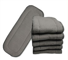 New 4 layers Bamboo Charcoal Inserts Cloth diaper For Baby Diaper washable reuseable baby diapers