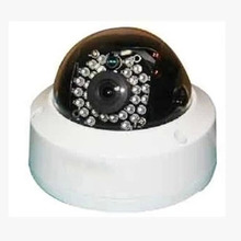 Hot Black&white Surveillance CCTV Home Security Dome Camera with LED Light Wholesale(China (Mainland))