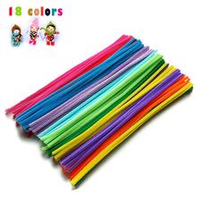 DIY Handmade Craft Material Plush Shilly Stick Flex Rods Stem Colored Childrens' Creative Toy for Kids Boy Girl(China (Mainland))
