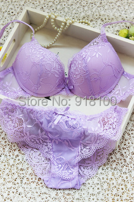 New 2015 sexy underwear, women bra set deep-V lace bra brief set,gather BRA&Panties,Sexy lace Brand Push Up ABC cup lingerie set(China (Mainland))