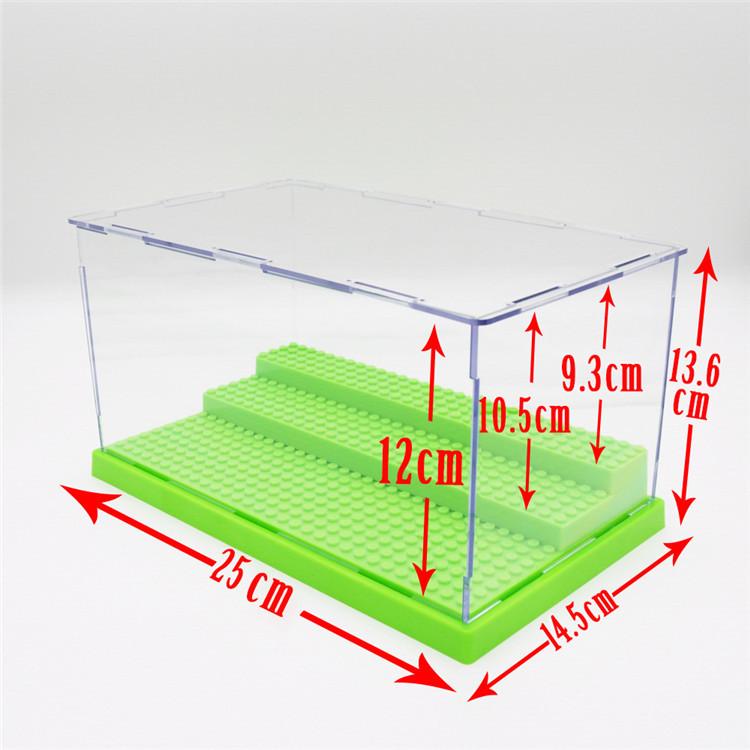 US warehouse/shipments,Acrylic Display Case Showcase Clear UV Acrylic/Plastic Display Box 3 Steps(China (Mainland))