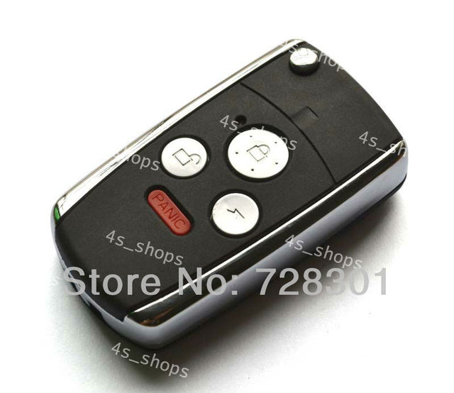 4 Buttons Remodel Case Uncut Flip Folding Remote Key Shell Fit For Honda Accord Civic Pilot CR-V Fit Ridgeline Switchblade Fob