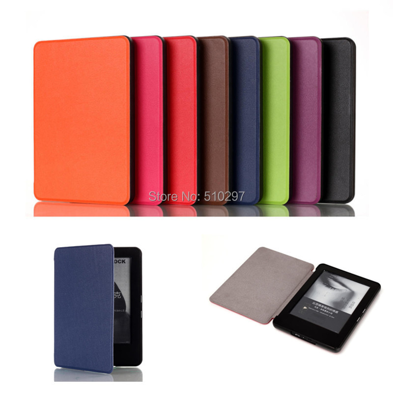 KST Luxury Skin Ultra Slim PU Leather Magnets cover case For Amazon 2014 new kindle 6 inch 7th eBook Case(China (Mainland))