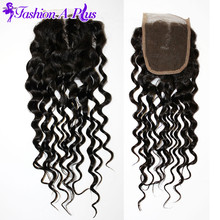 Brazilian Deep Wave Human Hair Extensions Lace Closure Brazilian Curly Virgin Hair 4×4 Swiss Silk Lace Closure Halo Lady Hair