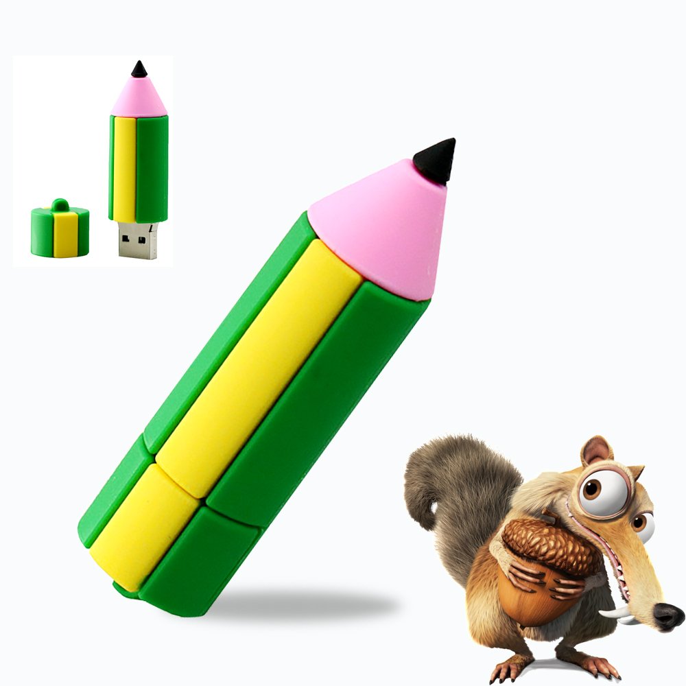 NEW Pencil 64 gb Super Mini Tiny Colorful 32 gb USB Flash Drive Pen Drive USB Memory Stick 8G/64G/32G/4G U Disk