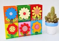 cute flower wooden pen stand/wooden desk holder/MEMO NOTE clips rack box/Container Organizer wholesale