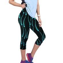 HOT New 3D Women Legging Prit Gym Running Fitness Trouser Sport Stretch Cropped Pants