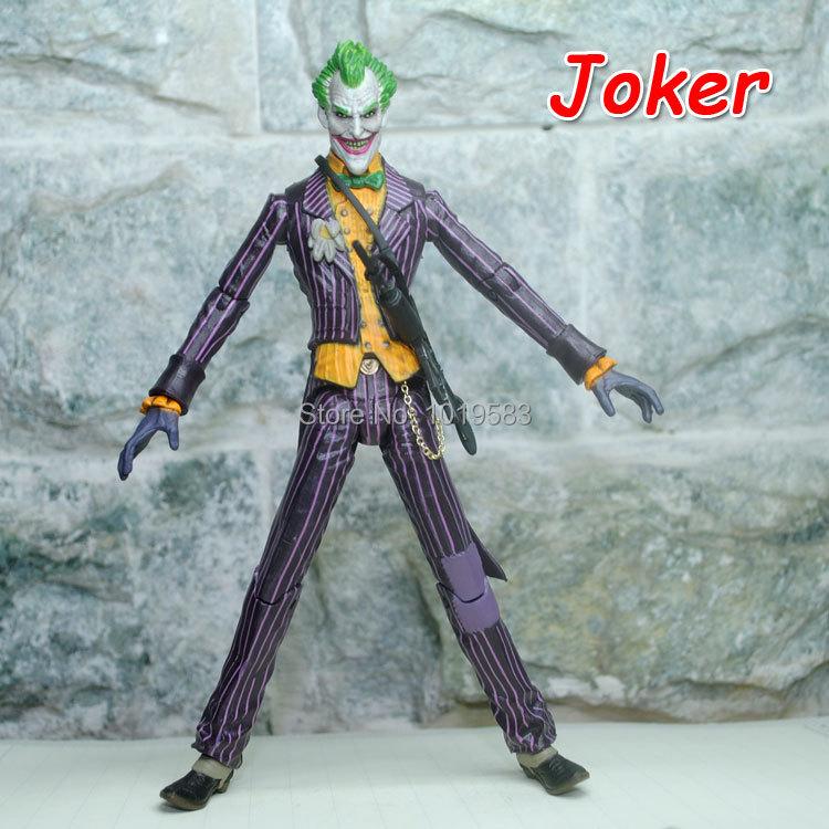 Brand New Very Cool Batman: Arkham Asylum The Joker 16cm PVC Game Action Figure Model Toy For Children/Gift -Free Shipping(China (Mainland))