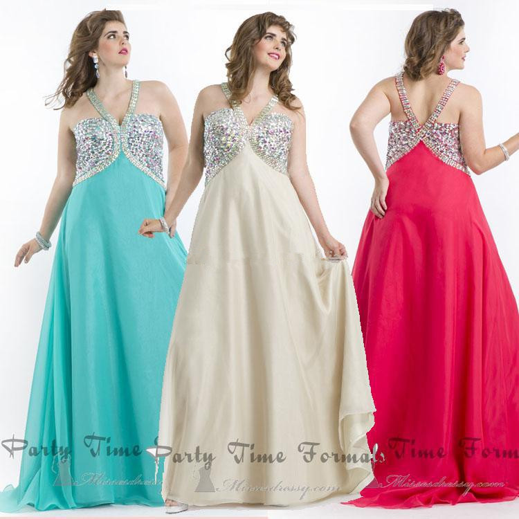 2014 plus size PROM dress skirt unbacked color beaded chiffon evening dress dress beauty queen(China (Mainland))