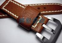 ручной работы кожаные ремни, 26 мм черный кожаный небольшой кожаный ремешок для panerai ремни, Мужские ремни