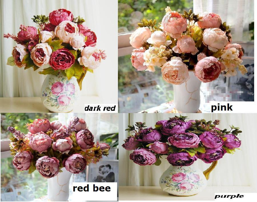 8 Heads 1 Boutique Silk Artificial Peony Rose Flowers Home Decoration Festival Party Flower Wedding Gift FLOWER-2301173(China (Mainland))