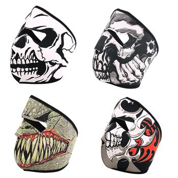 Cool Tubular Skull Ghosts Ghost Mask Bandana Motor bike Sport Scarf Neck Warmer Winter Halloween For Motorcycle 4 Design