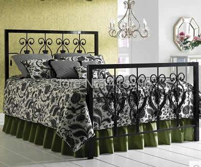 hot selling wrought iron double bed design(China (Mainland))