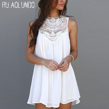 Buy Womens Dresses 2017 New Arrival Summer White Lace Party Dresses Sexy Club Casual Vintage Beach Mini Sun Dress for $7.39 in AliExpress store