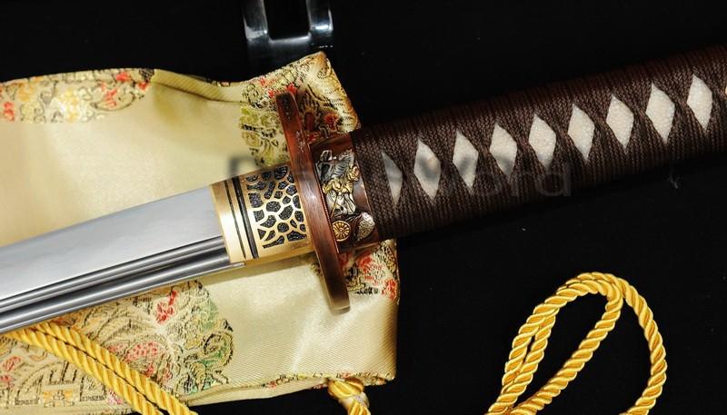 Buy Real Fully Handmade Clay Temper Japanese Samurai Katana Sword knife tow cheap