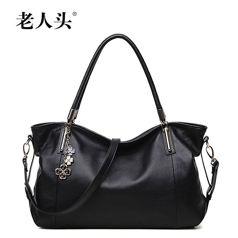 LAORENDOU 2015 new leather women bags leisure package inclined shoulder bag handbag crescent(China (Mainland))